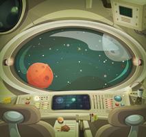 interno della nave spaziale vettore