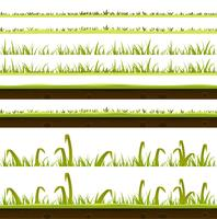 Set di strati di erba e prato