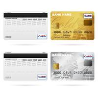Anteriore e posteriore delle carte di credito vettore