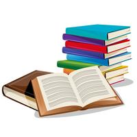 Pila di libri vettore
