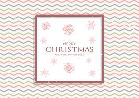 Sfondo di Natale con pattern retrò e fiocchi di neve