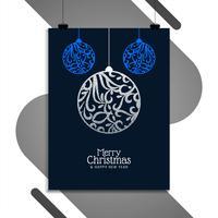 Modello di progettazione brochure astratto buon Natale vettore