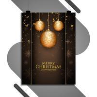 Modello dell'opuscolo di celebrazione di buon Natale vettore