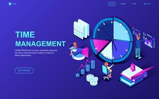 Banner web di gestione del tempo vettore