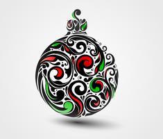 Palla di Natale vettore
