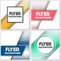 halftone Flyer style background Modello di progettazione