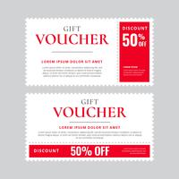 Modello vettoriale coupon