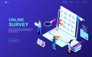 Banner Web sondaggio online vettore
