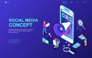 Banner Web di social media vettore