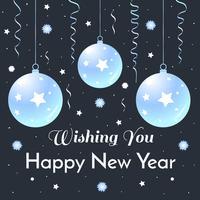Anno nuovo saluto vettoriale