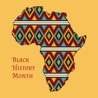 Vettori del mese della storia nera funky