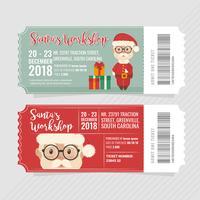Vector biglietti per l'officina di Babbo Natale