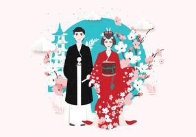 Tokyo Costume tradizionale vettoriale