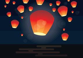 festival del lanten del cielo di Taiwan vettore