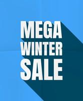 Mega vendita invernale vettore