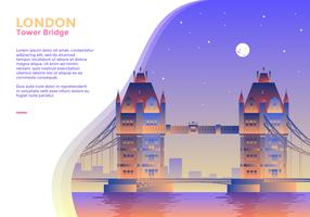 Vettore di London Bridge Bridge