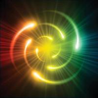 schema dell'atomo splendente. illustrazione vettoriale. vettore