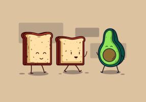 Vettore del pane tostato dell'avocado