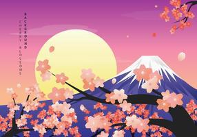 illustrazione di sfondo di fiori di ciliegio vettore