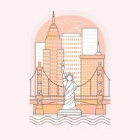 Illustrazione del profilo di New York vettore