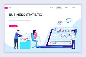 Banner web di statistica aziendale