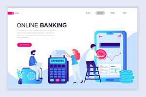 Banner Web di banking online vettore
