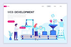 Banner Web di sviluppo Web vettore