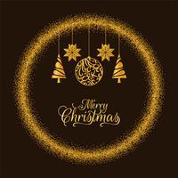 Buon Natale sfondo dorato luccica vettore