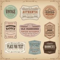 Segni d'annata ed antiquati dei segni delle etichette vettore