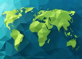 Mappa del mondo poligonale vettoriale