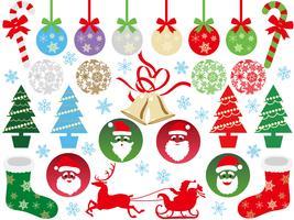 Insieme di elementi grafici di Natale assortiti.