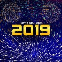 Felice anno nuovo sfondo decorativo colorato 2019 vettore