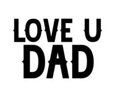 lettere del giorno del papà vettore