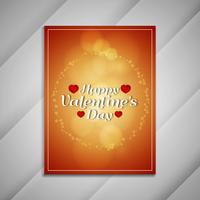 Presentazione di design opuscolo bella di San Valentino felice astratto