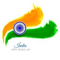 Fondo moderno di progettazione di tema indiana astratta della bandiera vettore