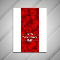 Presentazione di progettazione dell'opuscolo di San Valentino felice astratto vettore