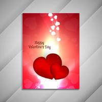Presentati brochure design astratto brillante felice San Valentino vettore