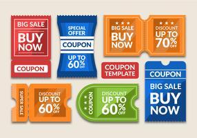 Modello di progettazione coupon vettore