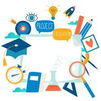 Istruzione, corsi di formazione online, formazione a distanza vettore