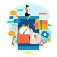 Processo di sviluppo di applicazioni mobili vettore