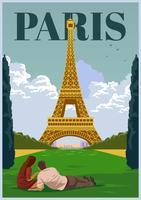 Punto di riferimento di Parigi vettore