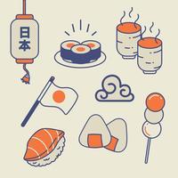 Pacchetto di alimenti giapponesi vettore