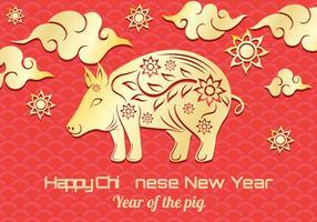 Illustrazione di maiale cinese di nuovo anno vettore
