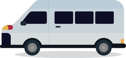 carino van design con vettore bianco isolato.mini bus flat style.travel car concept.