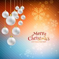 Bello fondo della carta di celebrazione di Buon Natale vettore