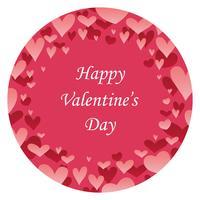 Fondo rotondo dell'estratto di San Valentino con lo spazio del testo. vettore