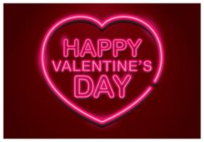 Buon San Valentino al neon vettore