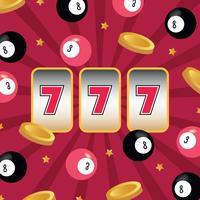 Slot machine con troppa fortuna vettore