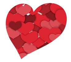 Fondo di forma del cuore dell'estratto di San Valentino.