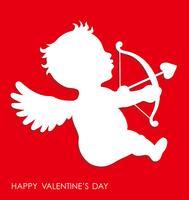 Icona di Cupid in rilievo 3D di San Valentino.